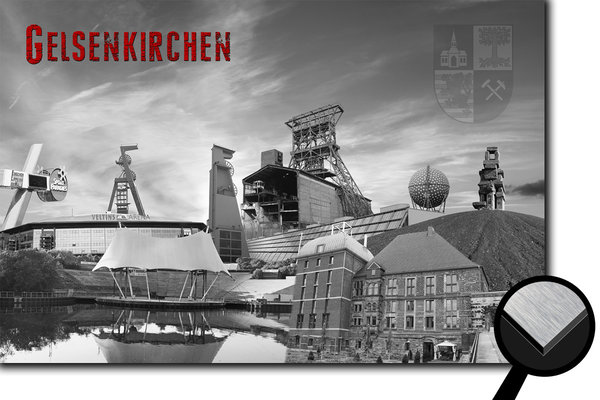 Gelsenkirchen Collage 1 - s/w
